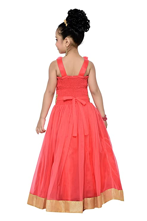 ADIVA Girl\'s Party Wear Gown for Kids: Amazon.in: Clothing & Accessories