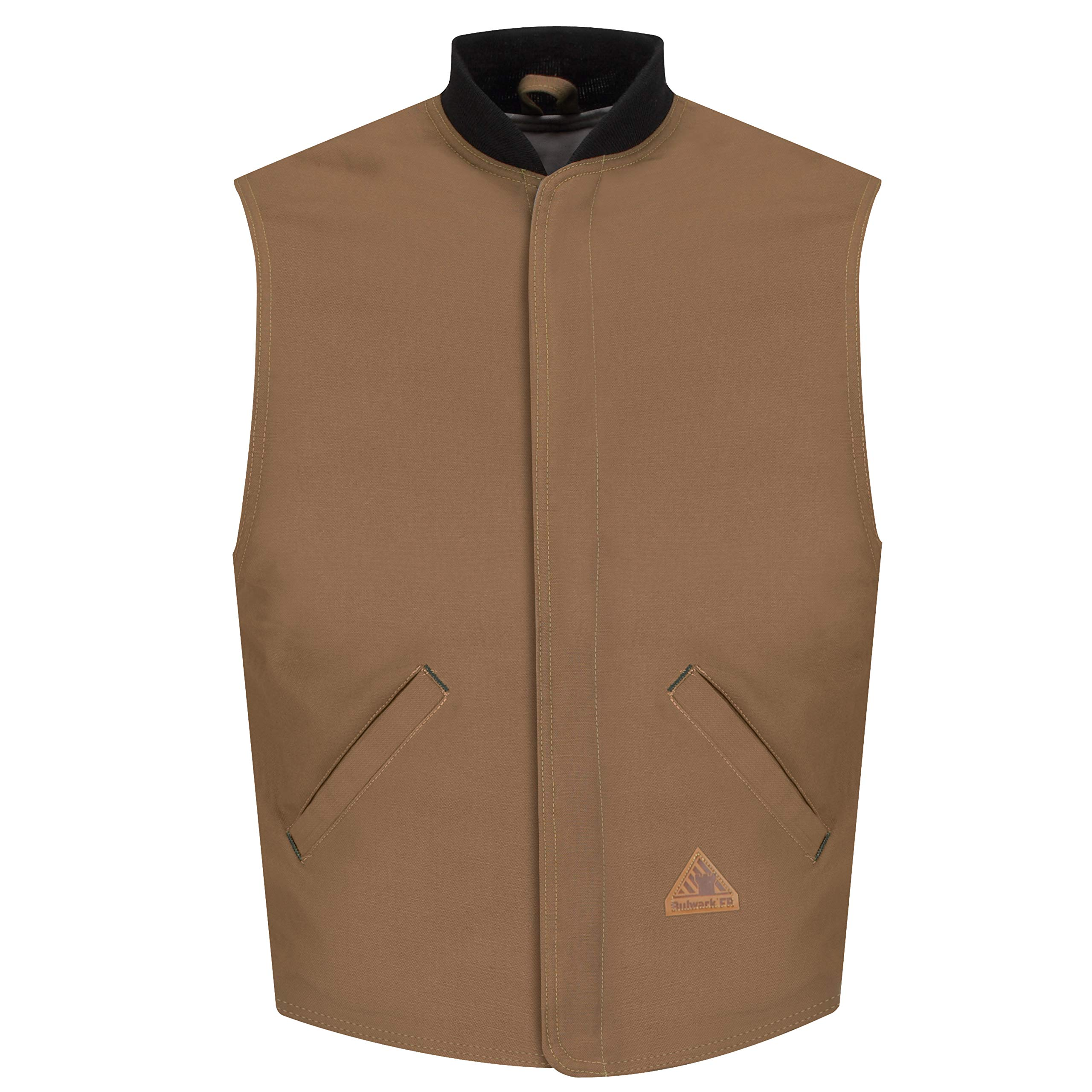 Bulwark Men's Flame Resistant 11 oz. Excel ComforTouch Duck Vest Liner with Rib-Knit Collar