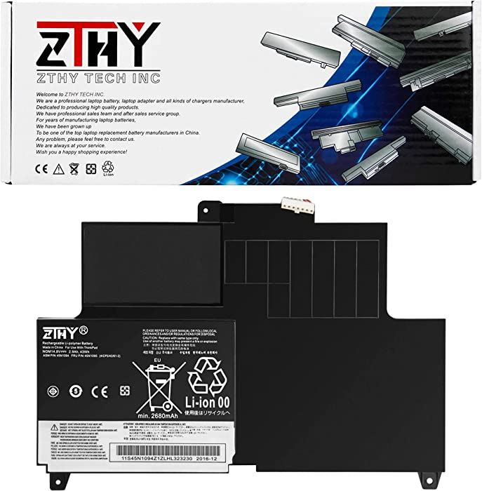 ZTHY S230U Laptop Battery Replacement for Lenovo Thinkpad Edge S230u Twist Series 45N1092 45N1093 45N1094 45N1095 45N1169 45N1168 4ICP5/42/61-2 14.8V 43WH 4Cell