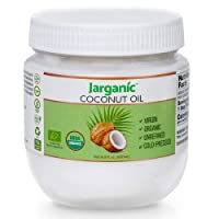 Organic Virgin Coconut Oil 16.9 Fl Oz – Cold Pressed Unrefined Coconut Oil For Hair Skin And Cooking – Non-GMO, Gluten Free, Virgin Coconut Oil – Jarganic
