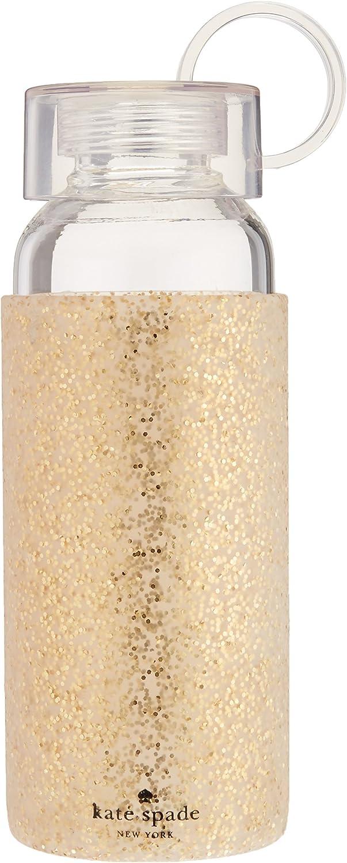 Kate Spade New York Womens Gold Glitter Water Bottle