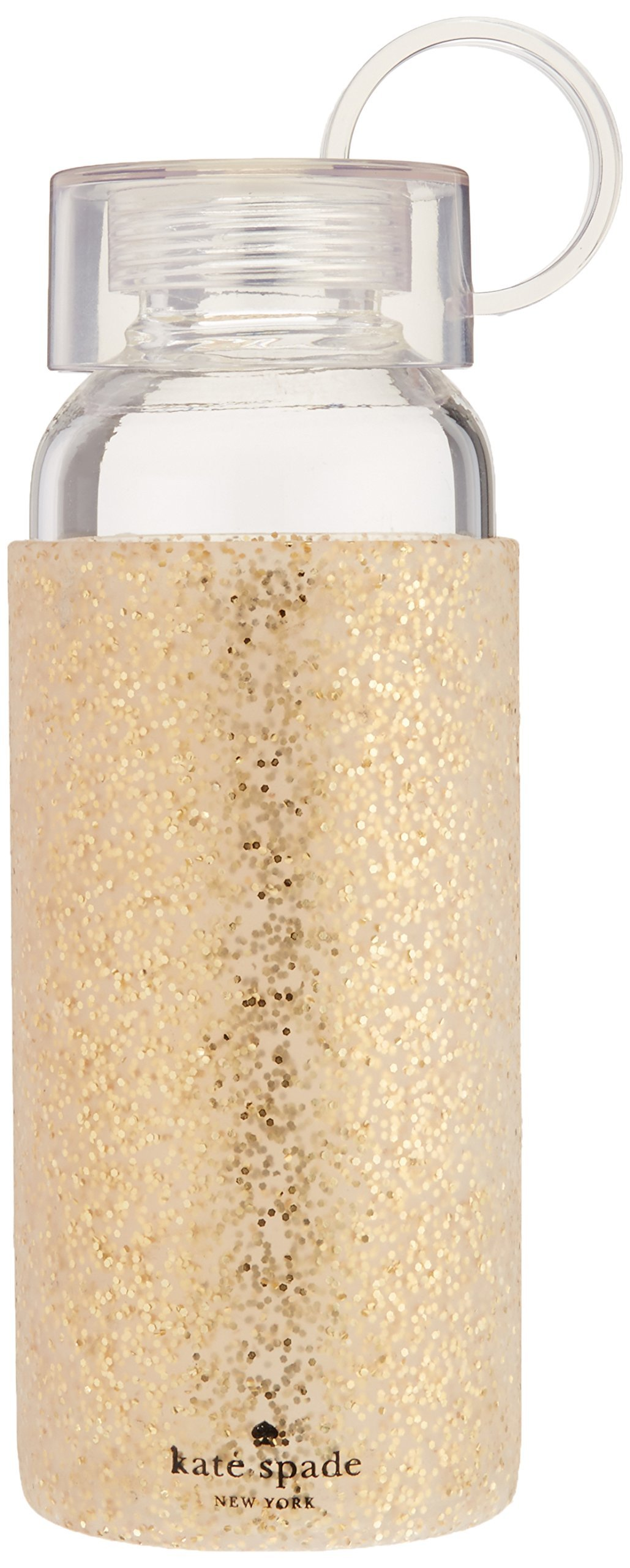 Kate Spade New York Water Bottle, Gold Glitter