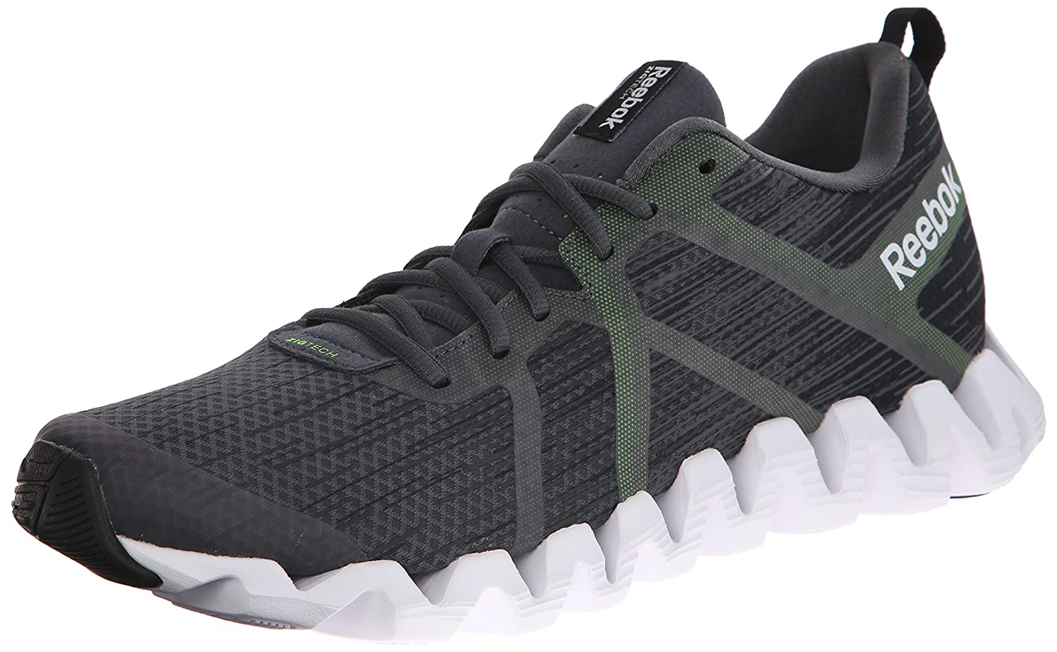 more photos f9ae0 68052 Reebok Men s Zigtech Squared 2.0 Running Shoe, Graphite Gravel Black Solar  Green White, 8.5 M US  Buy Online at Low Prices in India - Amazon.in