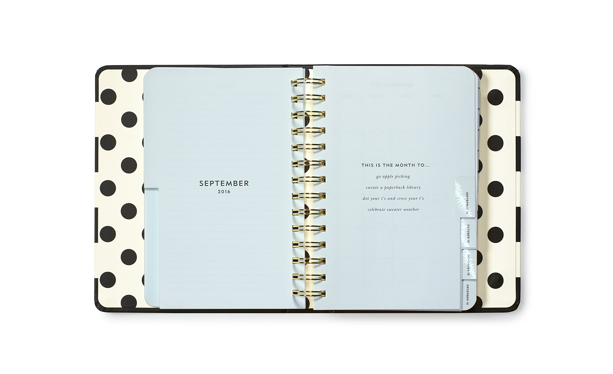 kate spade new york Conceal Sprial 2016-17 Medium Agenda, Black Stripe by Kate Spade New York (Image #1)