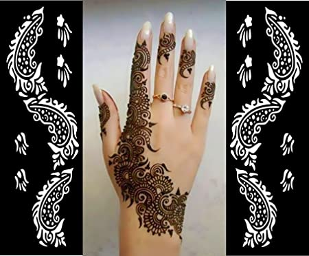 Henna Mehndi Stickers : Liner henna stickers tattoo body art mehndi stencils template