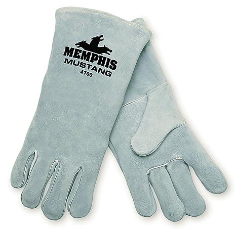 Seguridad MCR 4700 – Mustang Split cuero de vaca Premium Deluxe soldador guantes para hombre con