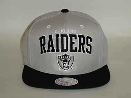 8c2ef2fa2 Image Unavailable. Image not available for. Color  Mitchell   Ness NFL  Oakland Raiders 2Tone Grey Black Snapback ...