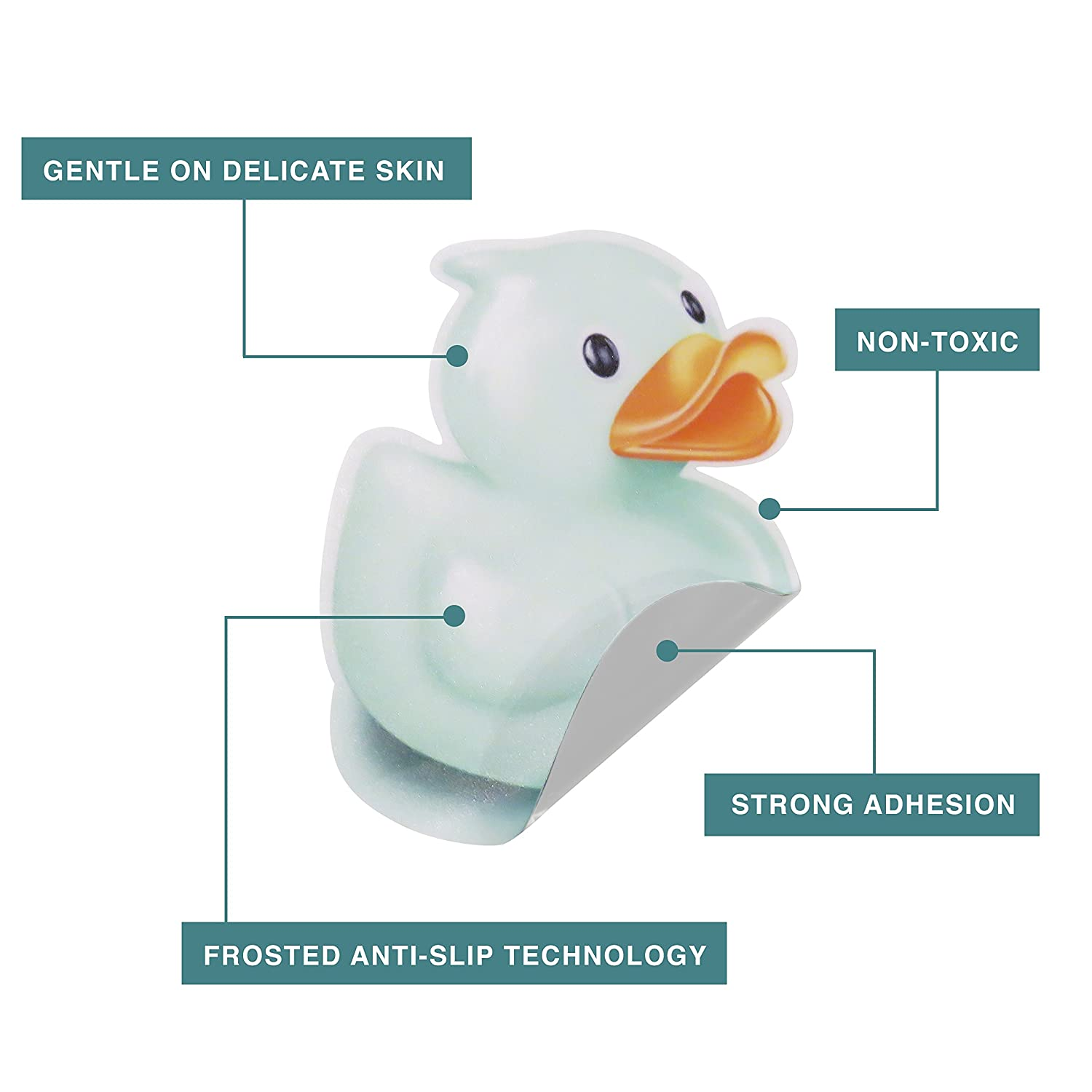 amazon com non slip safety adhesive duck bathtub or shower amazon com non slip safety adhesive duck bathtub or shower stickers non toxic anti bacterial mold mildew resistant pack of 8 treads large surface