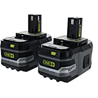 2-Pack Ryobi Battery 18-Volt Lithium Ion On-board Fuel Gauge Rechargeable Battery