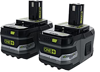 2-Pack Ryobi Battery 18-Volt Lithium Ion Battery
