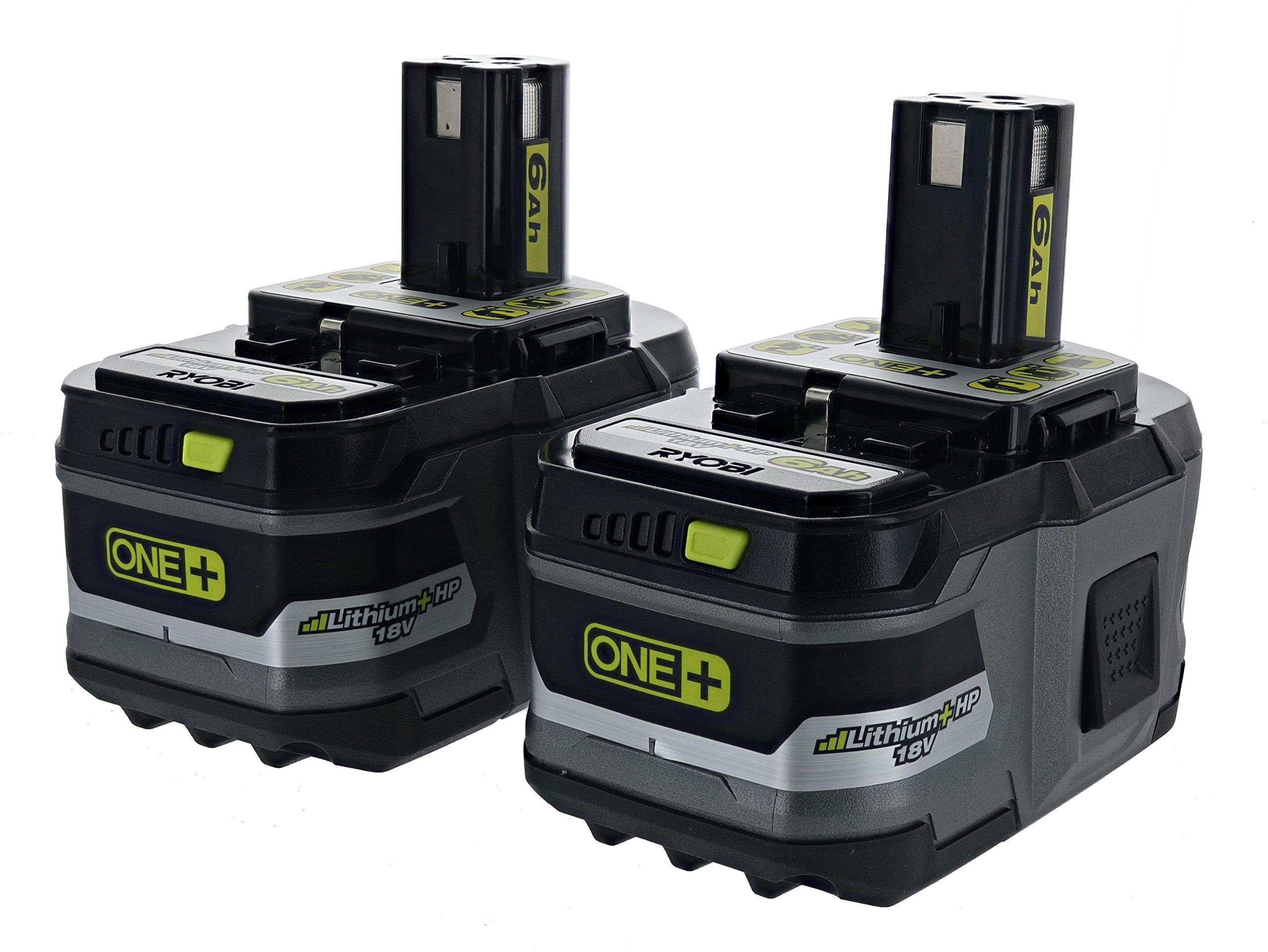 2 Baterias Originales RYOBI P193 6.0 Ah 18v