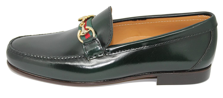 John Coleman Zapato Mocasín Estilo Castellano con Gucci EN Cuero Color Verde Oscuro: Amazon.es: Zapatos y complementos