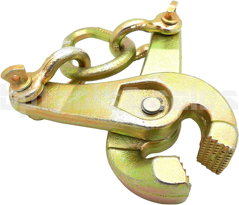 2 Ton Self-Tightening Scissor Clamp Serrated Jaw Pulling 4 Auto Body Repair Tool