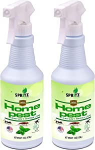 Spritz Home Pest Peppermint Oil Spray for Bugs & Insects | 100% Non-Toxic | Made with Essential Oils - Pet Safe and Effective | Ant, Roach, and Spider Repellent 16oz (2)