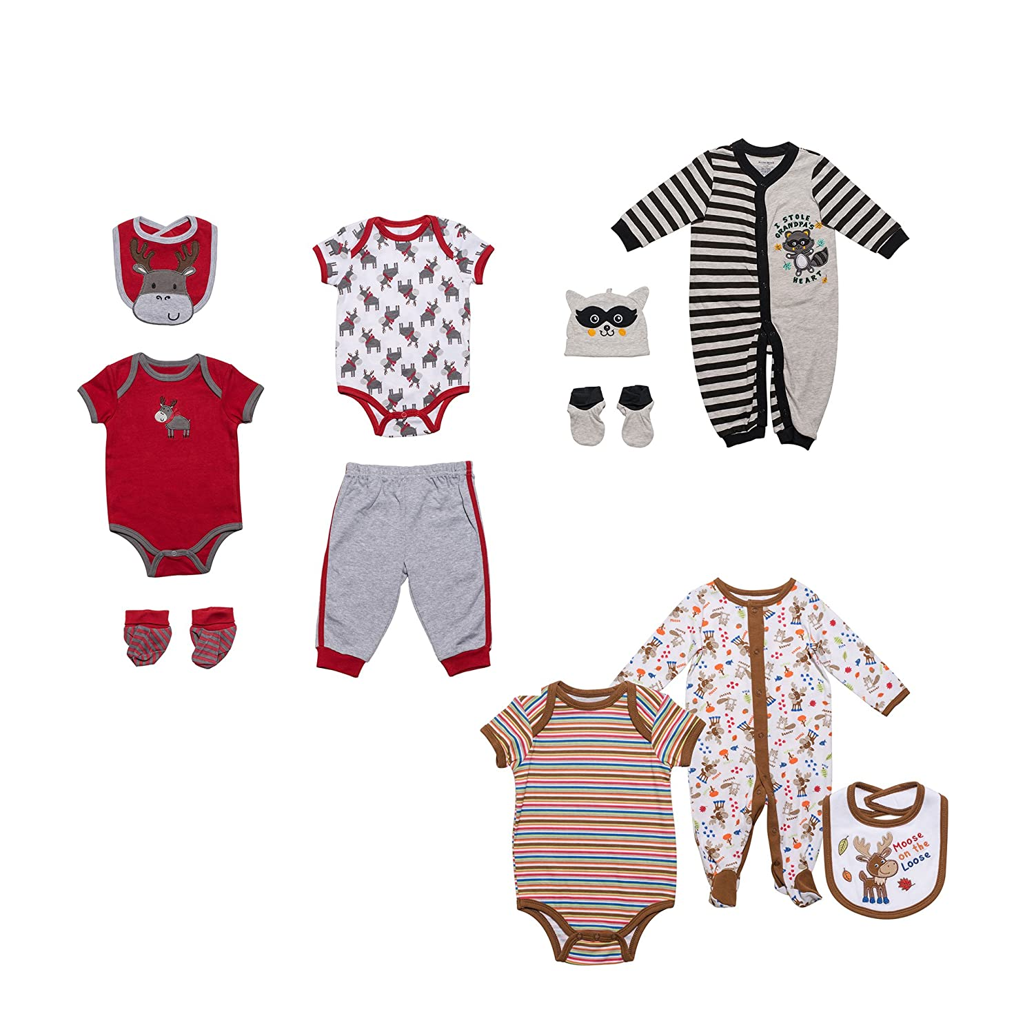 948a5b44c1 Buster Brown Baby Boy 3 Outfit Set (11 pieces)
