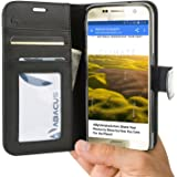Galaxy S7 Case Abacus24-7® Samsung Galaxy S7 Wallet Case Folio Leather Flip Cover and Stand for Galaxy S7 Phone Black