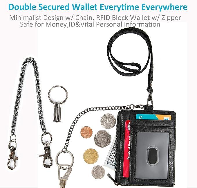 Amazon.com: Billetera minimalista RFID para hombre, con ...