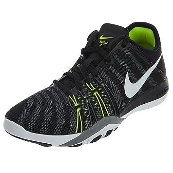 649aa3001cd6e Nike Women s Wmns Nike Free Tr 6 Running Shoe Black White Yellow ...