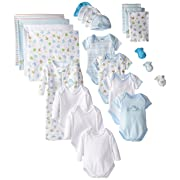 SpaSilk 23-Piece Essential Newborn Baby Layette Set, Blue Boy, 0-6 Months