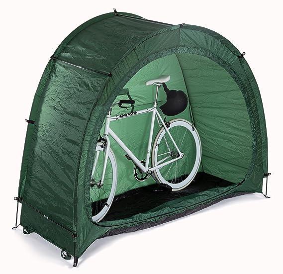 Powerfly Bicicleta Carpa de Almacenamiento Impermeable Cobertizo de Jardín - Verde: Amazon.es: Deportes y aire libre