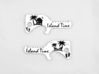 product image for Tiger's Tooth Island Time Bottle Opener - Stainless Steel minimalist keychain tool - EDC - Limited Edition