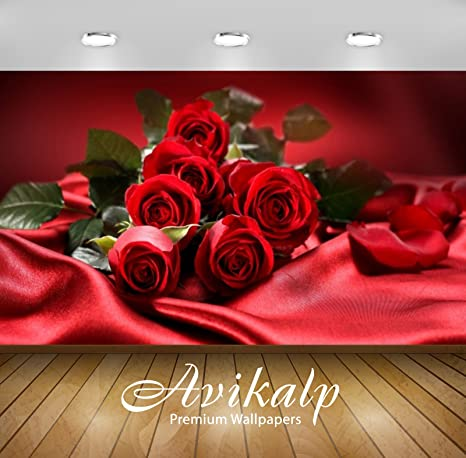 Buy Avikalp Exclusive Awi2460 Bouquet Flowers Red Roses Love