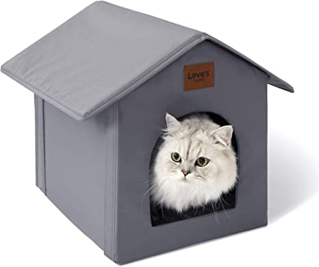 Love S Cabin Outdoor Cat House Weatherproof For Winter Collapsible Warm Cat Houses For Outdoor Indoor Cats Feral Cat Shelter With Removable Soft Mat Easy To Assemble Igloo Dog House For Small