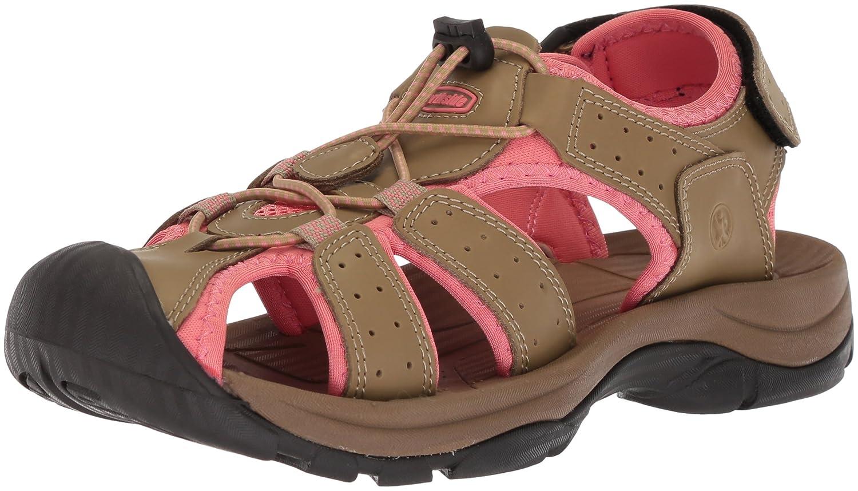 Northside Women's Trinidad Sport Sandal B0735FQVD2 Size 9 M US|Tan/Coral