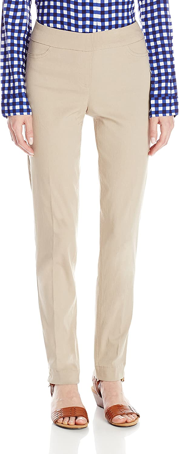 SLIM-SATION Womens Pull-On Straight-Leg Pant