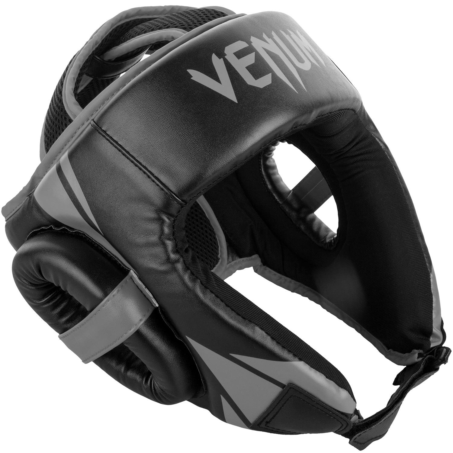 Venum Challenger Open Face Headgear – ブラック/グレー、1サイズ B074WHQGXJ