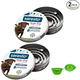 Bayer Seresto Flea and Tick Collar for Dogs, 8 Month Protection for Large Dogs 2 PACK W/Bonus HotSpot Pets Travel Bowl