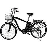 "Nakto 26"" 250W Cargo-Electric Bicycle 6 speed e-Bike 36V Lithium Battery Aadult/Young Adult-Men"