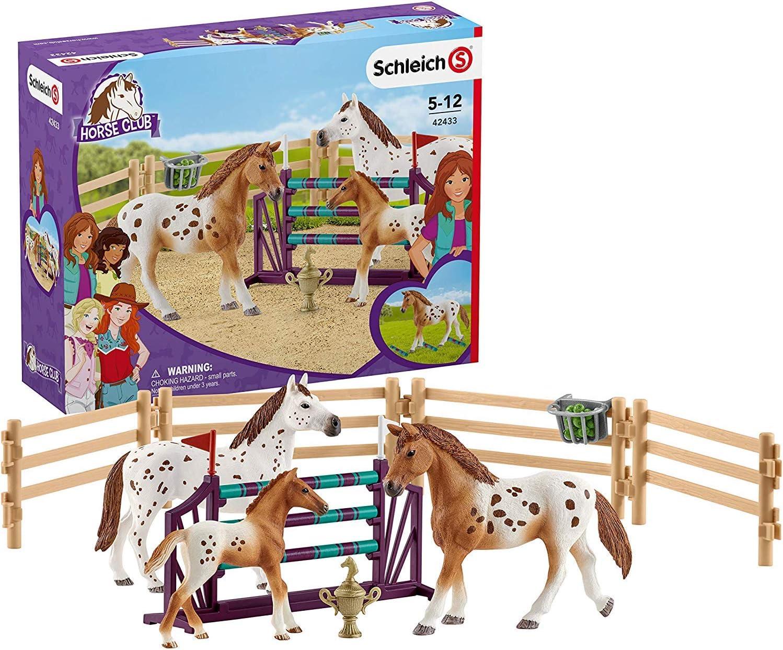 Schleich-42433 Set De Entrenamiento Para El Concurso De Horse Club Lisa, Multicolor (42433)