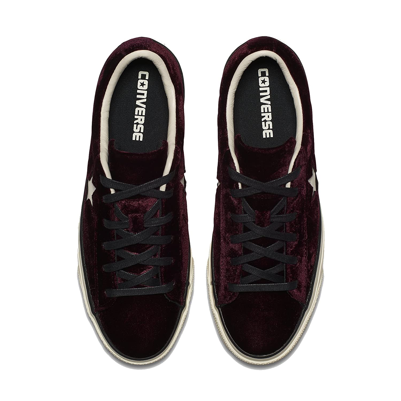 Converse Damen 558951C Bordeauxrot Samt Sneakers: