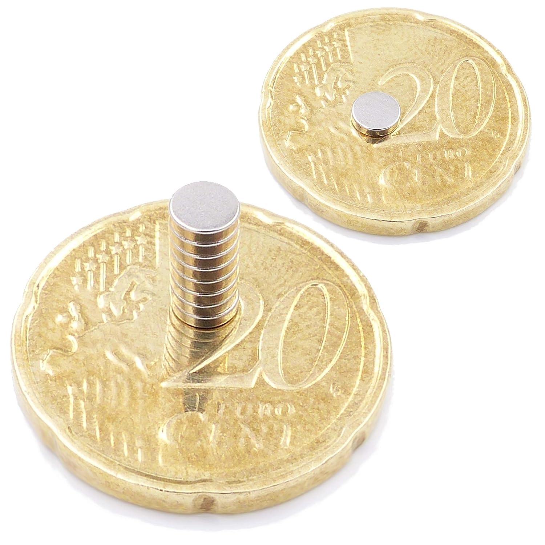 50 Mini Imanes Discos 12x1mm Peque/ño Redondo y Extra Fuerte Brudazon N52 Nivel m/ás Fuerte Im/án del Poder para la Toma de Modelo Los imanes de neodimio Ultra Fuertes Foto Pizarra Blanca