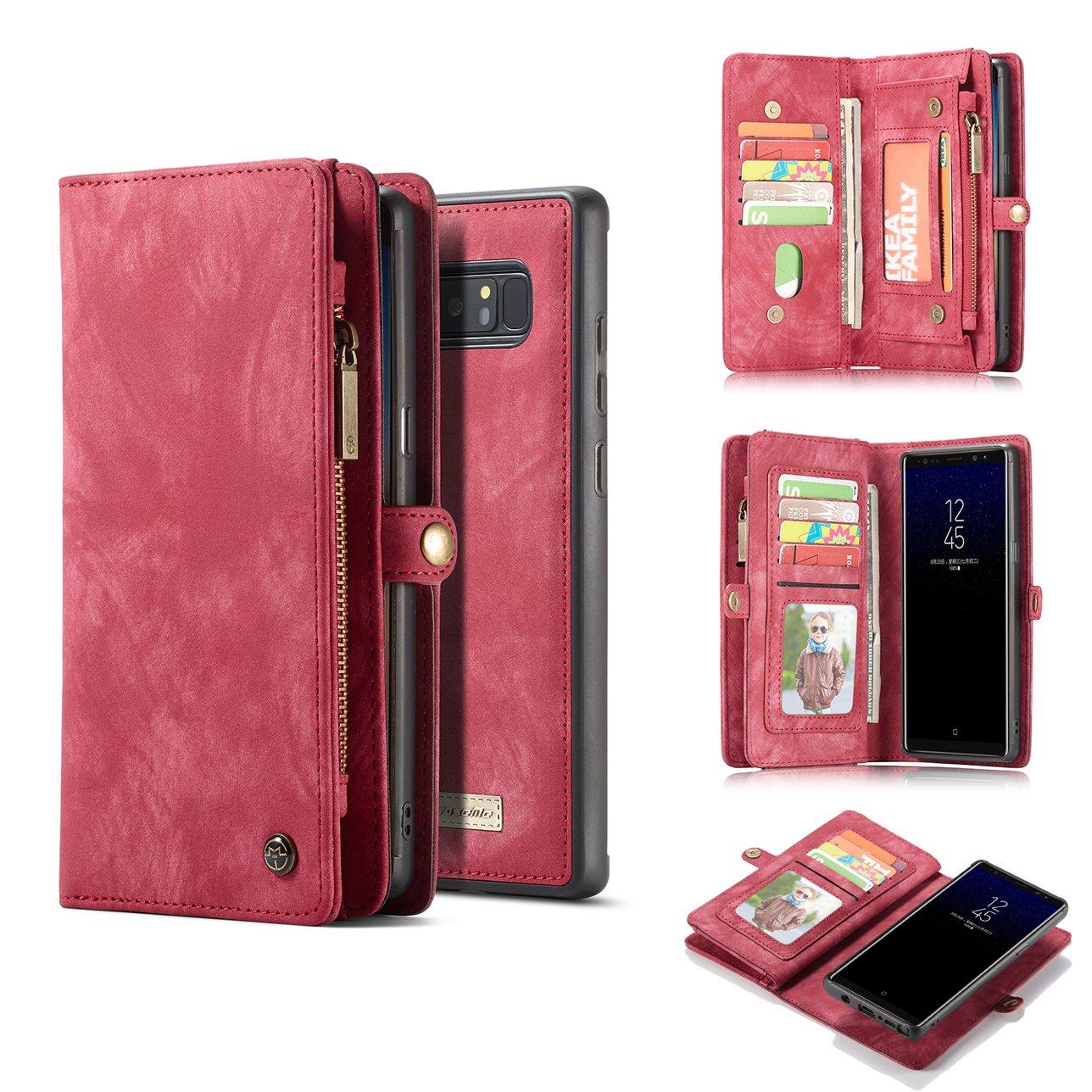 Galaxy S8 Plus caso, akhvrs hecho a mano cartera de piel de ...