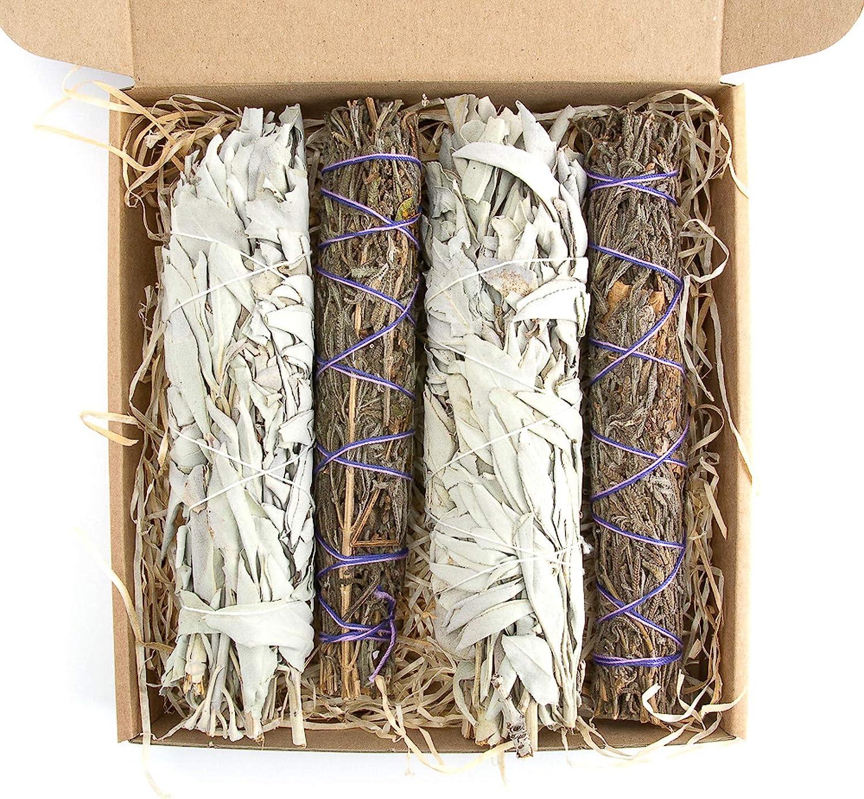 misura XL Native Spirit 7 pollici Set di bacchette aromatiche Pure Lavender e White Sage Sticks 2 x 2
