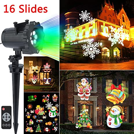 Led Christmas Outdoor Light Projector   Wonder4 2017 Newest Version Led  Landscape Spotlight With 16 Exclusive