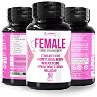 Female Enhancement for Women - Natural Herbal Complex Extract for Women – 90 Capsules of Pure Energy, Stamina, Performance with Ginkgo Biloba, Ginseng, Tribulus, Tongkat Ali - 2000mg Daily Pills