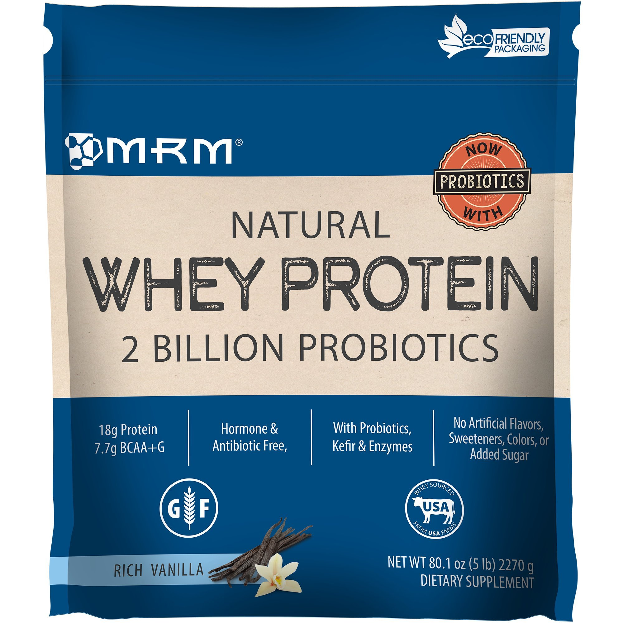 MRM - Metabolic Whey, 100% All Natural Premium Whey Protein, Branched Chain Amino Acids (BCAAs) Support Faster Recovery (Rich Vanilla, 5 lbs)