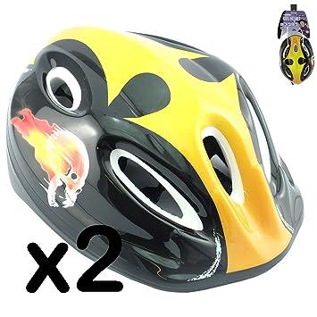 Casco de seguridad para niños., color Yellow Skull, ...