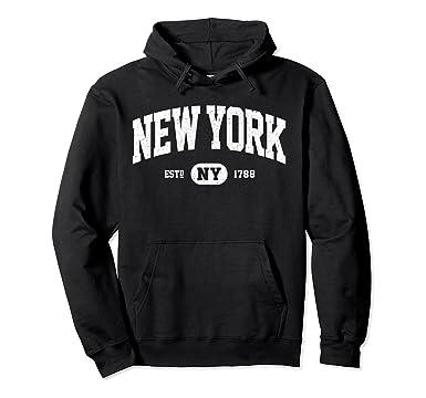 Unisex NY New York Sweatshirt Retro Vintage New York Hoodie Gifts 2XL Black 4f4af953c509