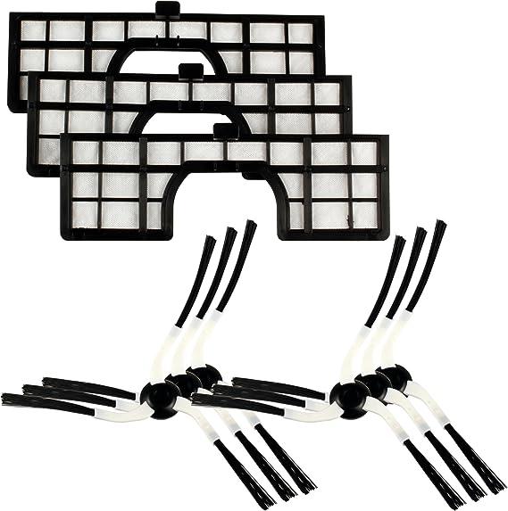 Menalux MRK 02 MRK02-6 cepillos Laterales y 3 filtros compatibles ...