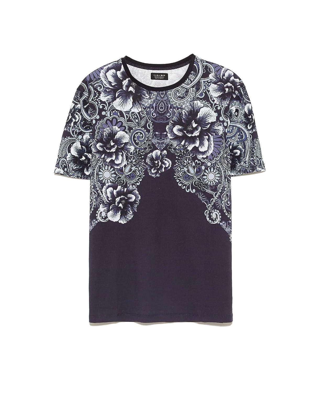 Zara Men Printed T Shirt 1165401 Small Amazon Clothing