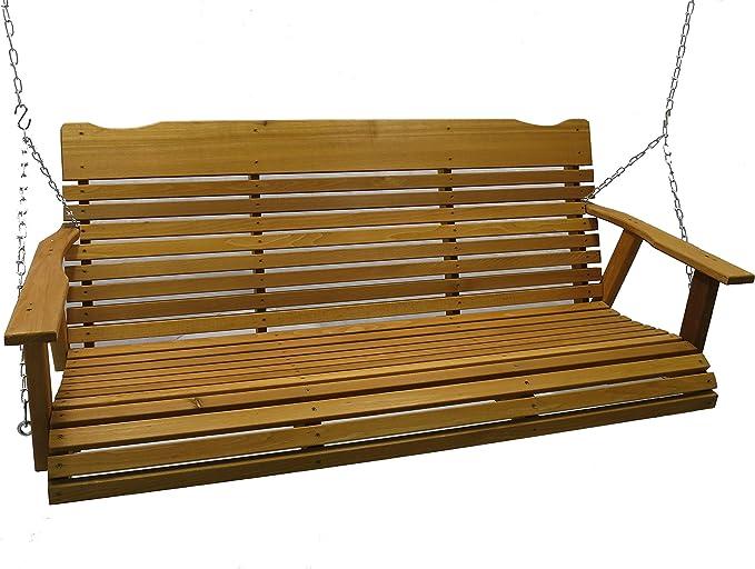 Kilmer Creek 5 Foot Cedar Porch Swing - The Best Cedar Wooden Swing