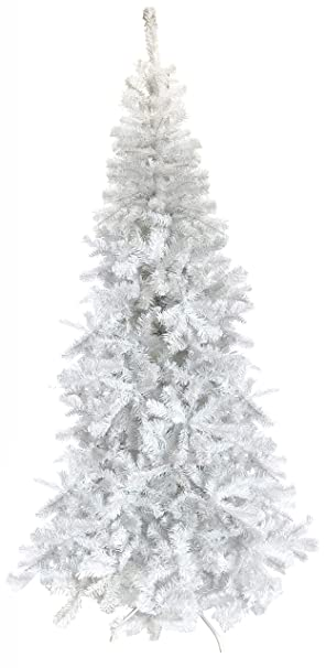 Tall Slim Christmas Trees Artificial.Vert Lifestyle White Bergen Spruce Luxury Artificial Christmas Tree 7 Ft Tall 210cm Slim 3 3 Ft Wide Quality Xmas Trees