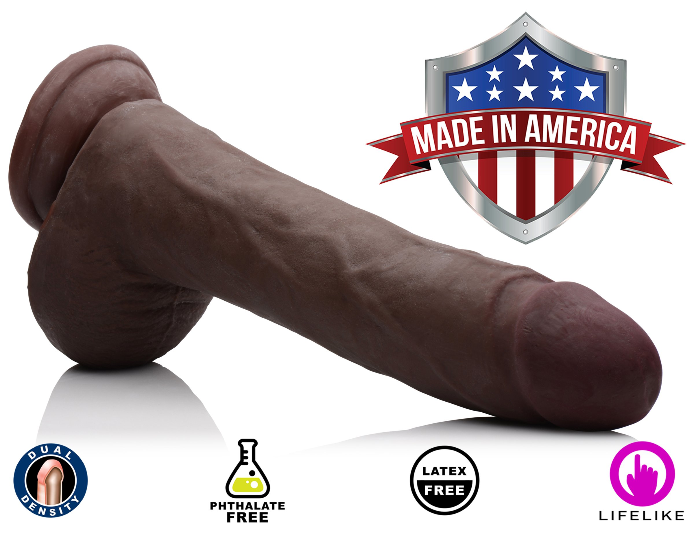 True Touch Jamal Bbc Skintech Realistic Dildo, 10 Inch