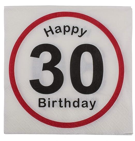 MC Trend 40 Unidades Servilletas Happy Birthday Cumpleaños ...