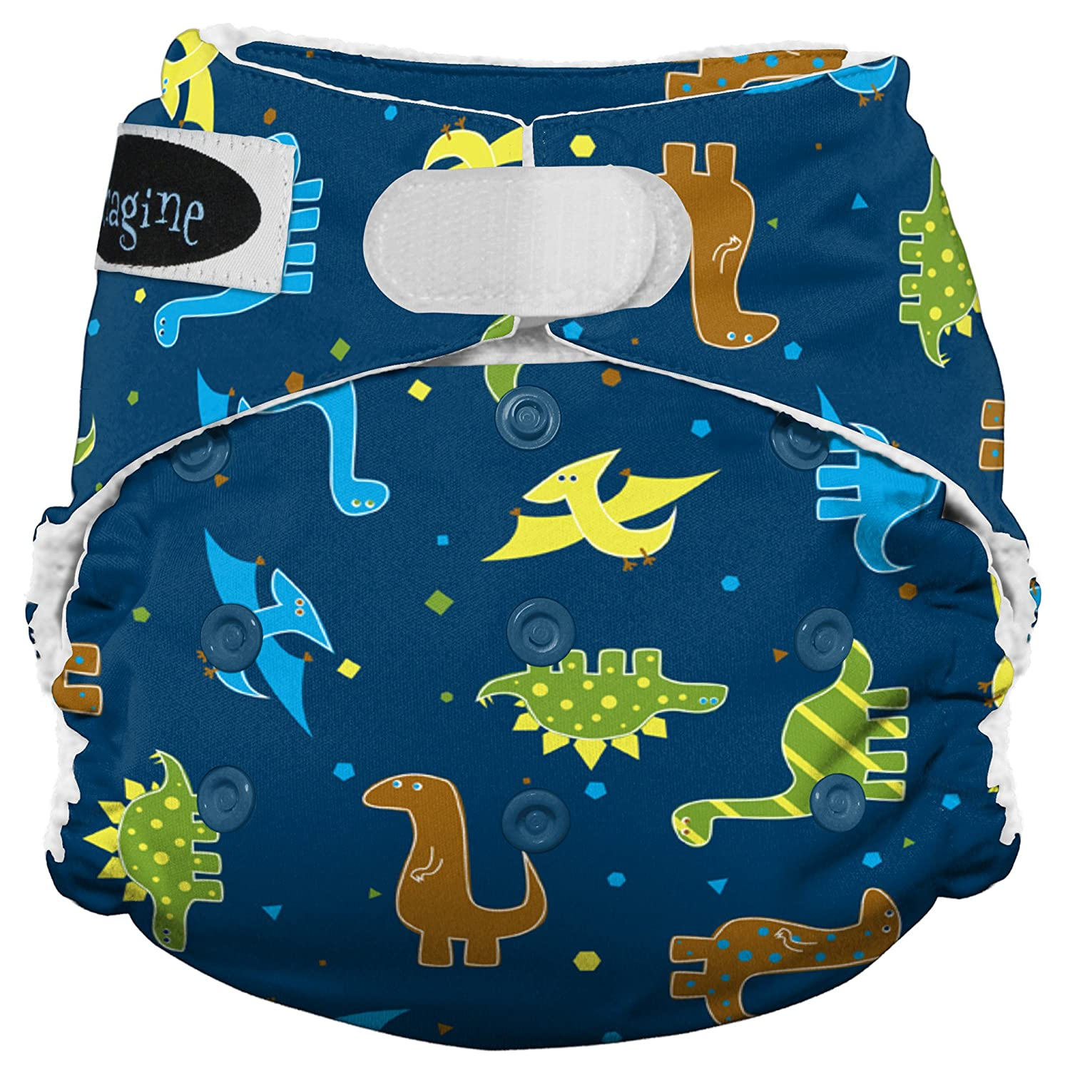 Imagine Baby Products Stay Dry All-In-One Hook and Loop Diaper, Rawr by Imagine Baby Products   B00FMHGL18
