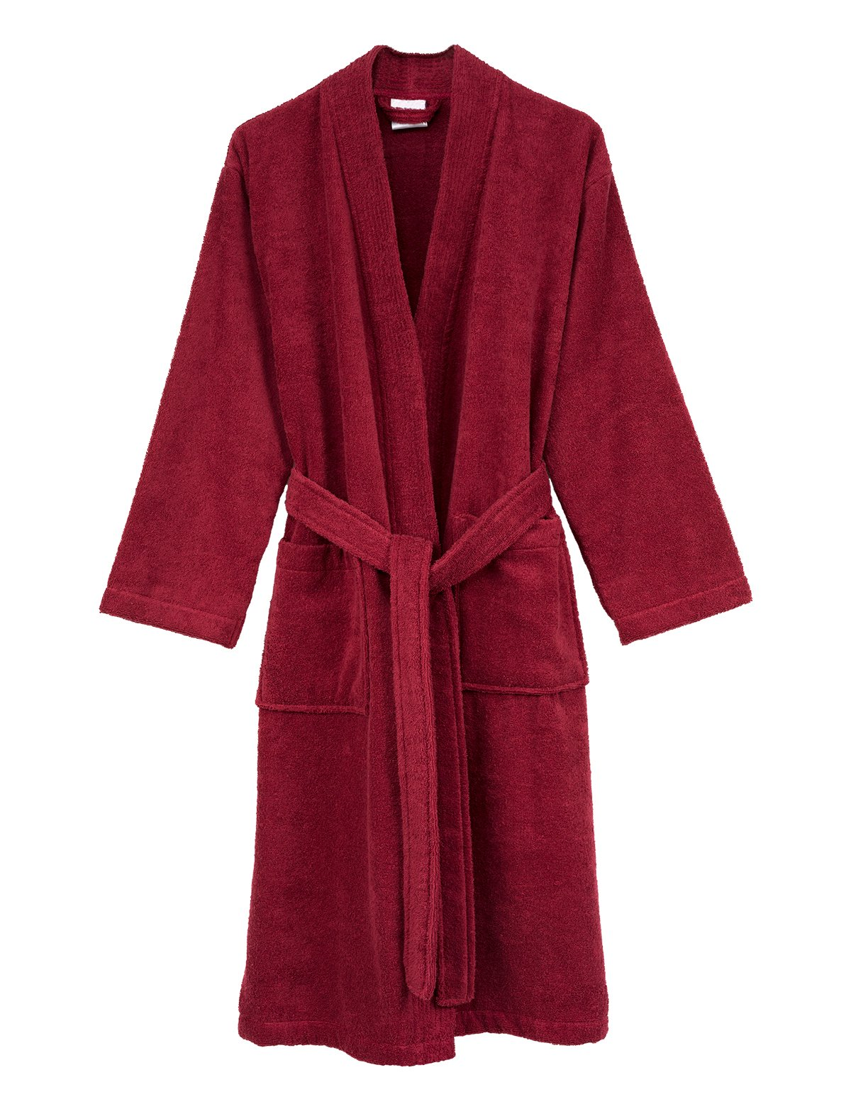 TowelSelections Men's Robe, Turkish Cotton Terry Kimono Bathrobe Large/X-Large Deep Claret